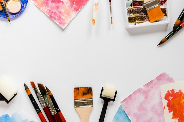 Ferramentas de pintura de artista