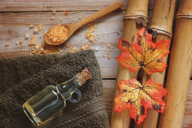 Ferramentas de tratamento de spa e folhas