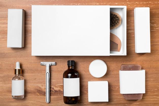 Ferramentas e caixas para barbearia