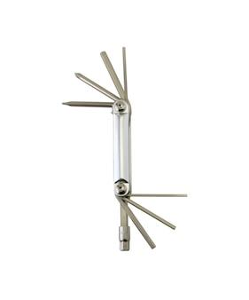 Ferramentas mecânicas em uma chave hexagonal multifuncional