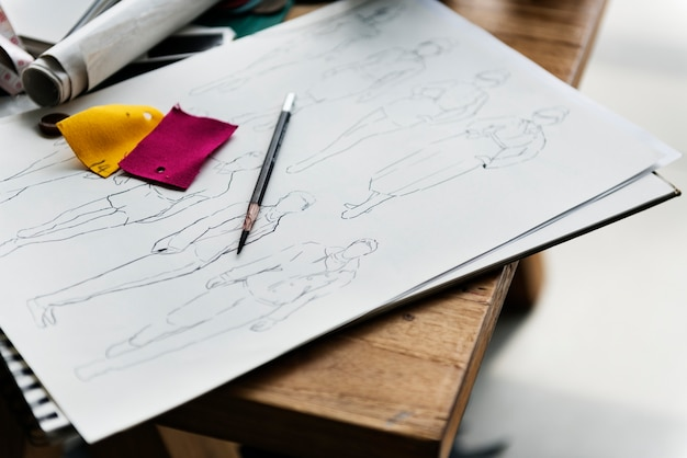 Ferramentas usadas para desenhar