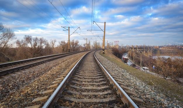 Ferrovia na cidade