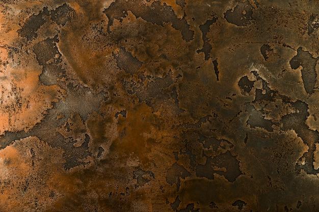 Ferrugem áspera na superfície de metal