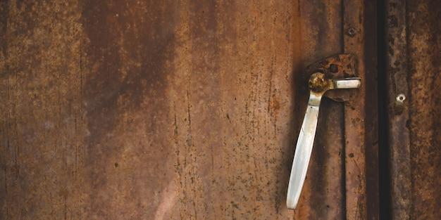 Ferrugem na superfície da placa de aço da placa de ferro
