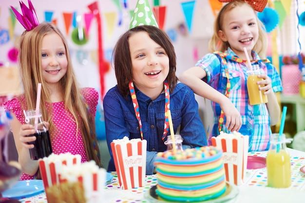 Festa de aniversário só com os melhores amigos
