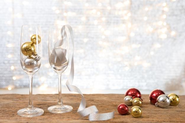 Festa de ano novo de natal com fundo presente presente celebrar o tempo de feliz ocasião especial