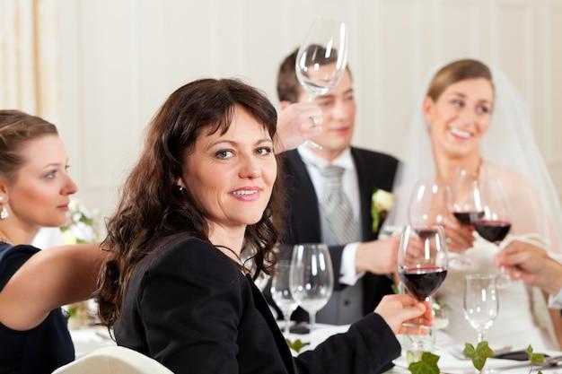 Festa de casamento no jantar