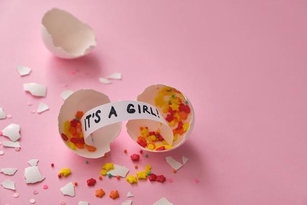 Festa de gênero. conceito de celebração quando o gênero da criança se torna conhecido