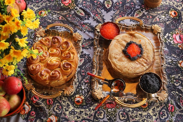 Festa em estilo russo.