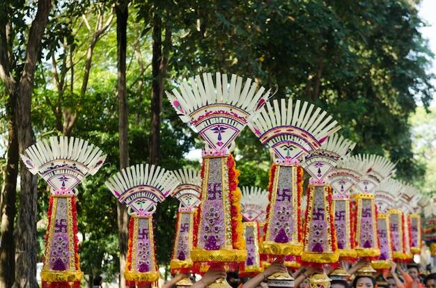 Festival balinesa de dança na indonésia