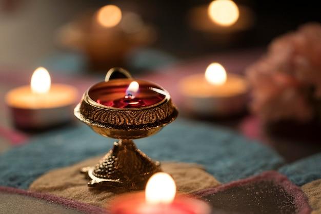 Festival de diwali da tradição das luzes