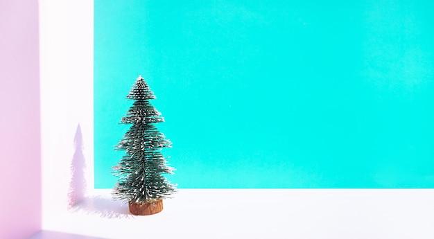 Festival de natal com maquete de pinheiro fofo em pastel