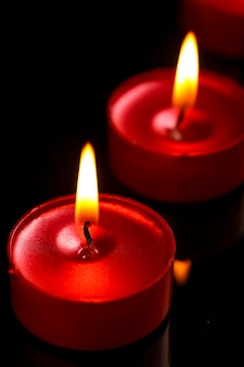 Festival indiano diwali, vela no escuro