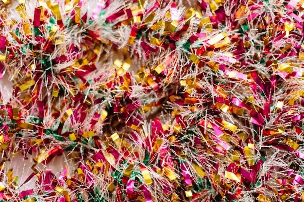 Festive garland sparkles