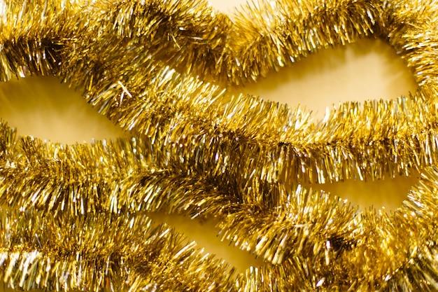 Festive gold garland sparkles