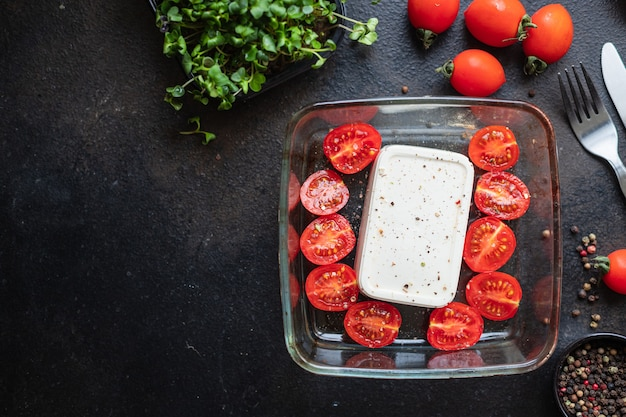 Fetapasta tomate segundo prato temperos queijo feta macarrão feta penne