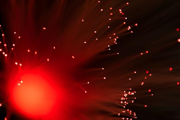 Fibra óptica luzes abstraem base