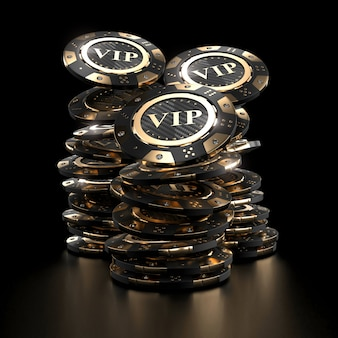 Fichas de casino de luxo de ouro