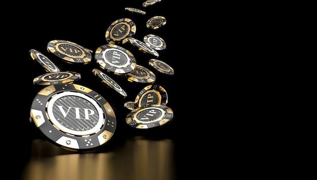 Fichas de casino dourado vip