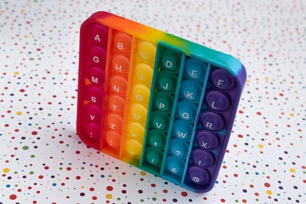 Fidget pop it toy rainbow color - anti-stress, divertido e educacional