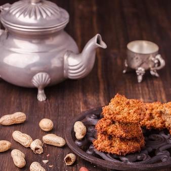 Fígado de aveia com manteiga de amendoim
