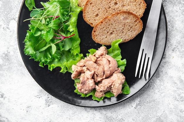 Fígado de bacalhau em óleo de peixe gordura frutos do mar ômega3 vitamina aperitivo fresco pronto para comer refeição lanche