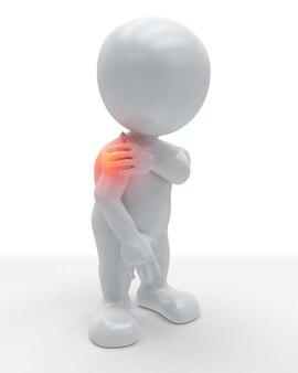 Figura 3d segurando o ombro em dor
