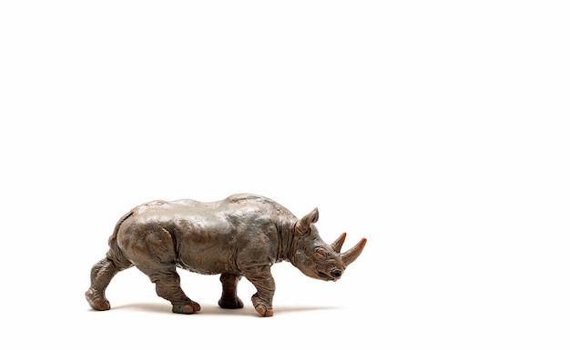 Figura de brinquedo de rinoceronte selvagem