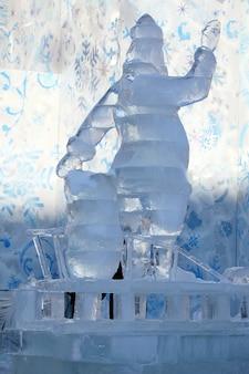 Figura de gelo do papai noel