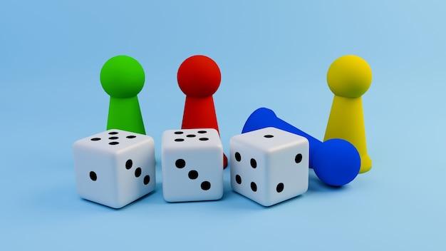 Figura do jogo de mesa com dados.
