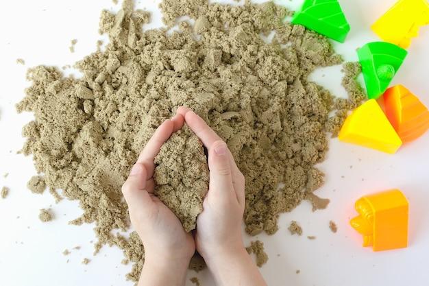 Figuras cinéticas de areia brinquedos coloridos educação infantil preparação para o desenvolvimento escolar jogo infantil
