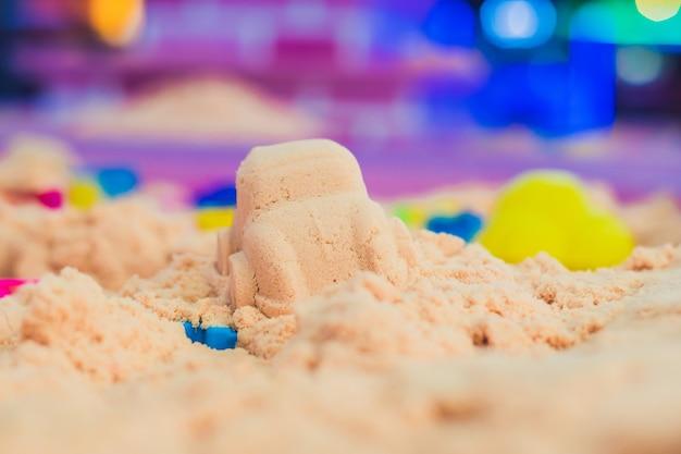 Figuras de areia cinética rosa