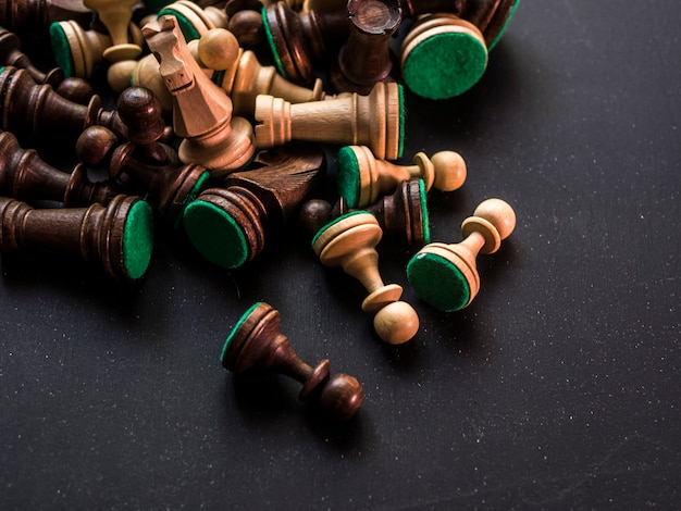 Figuras de peças de xadrez clássico tradicional