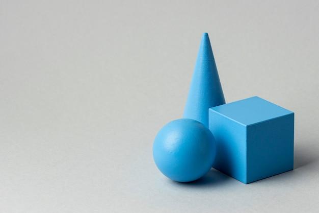 Figuras geométricas minimalistas com espaço de cópia