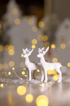 Figurinhas com tema de natal decorativas, veados de natal, decoração da árvore de natal,,