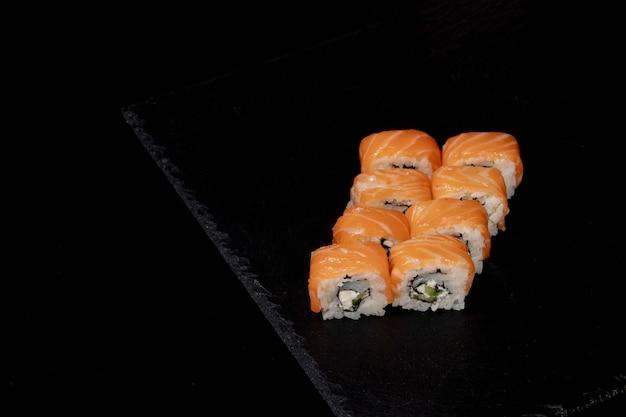 Filadélfia roll com salmão