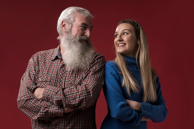Filha e pai no dia dos pais