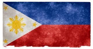Filipinas grunge bandeira
