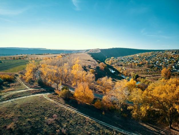 Filmagem aérea do velho orhei