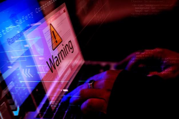 Filmagem hacking de computador diverso