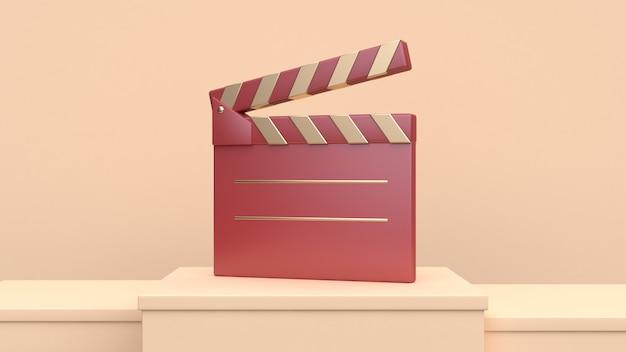 Filme de cineasta de ardósia de filme de ouro vermelho