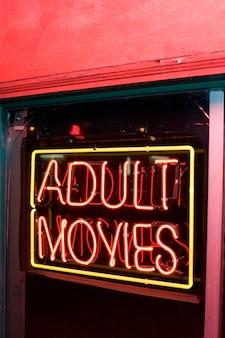 Filmes adultos sinal de néon