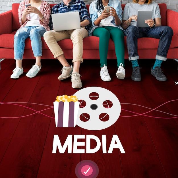 Filmes entretenimento eventos mídia digital Foto Premium