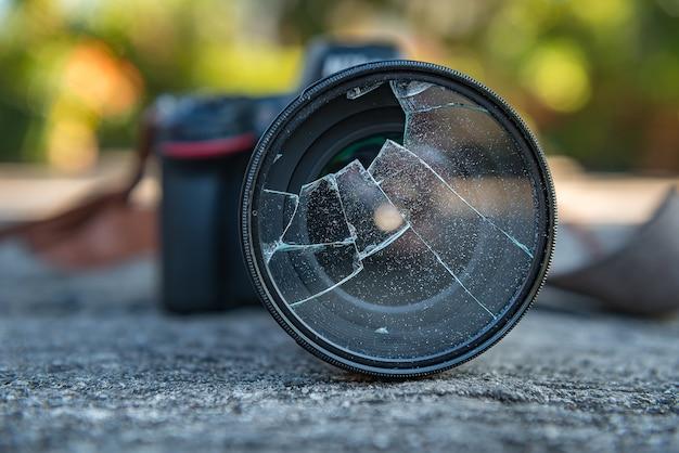 Filtre a lente da câmera quebrada