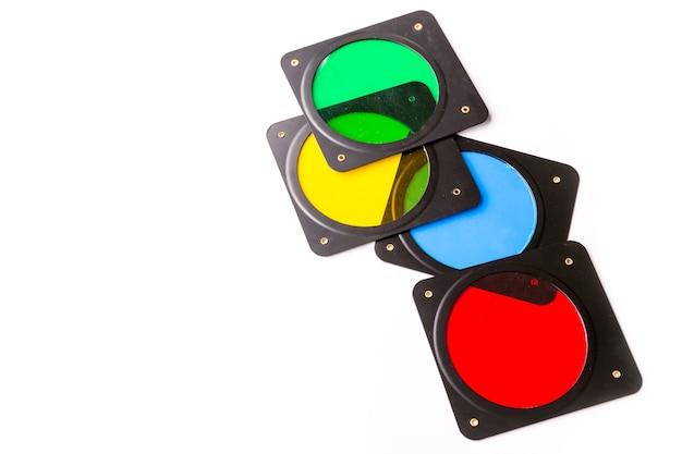 Filtros fotográficos multicoloridos