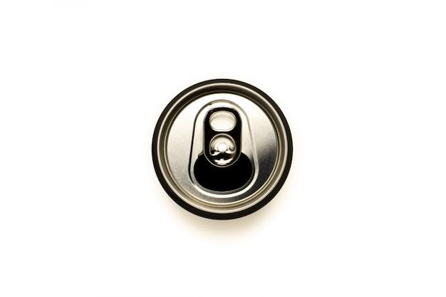 Fim, cima, alumínio, latas
