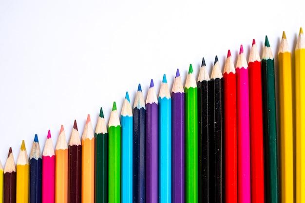 Fim, cima, cor, lápis, branca, fundo