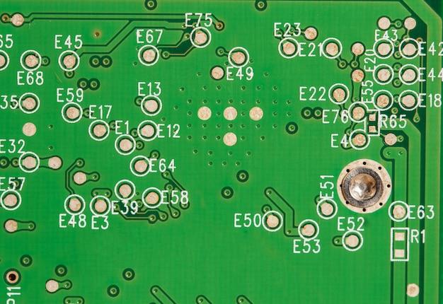 Fim, cima, de, placa gráfica, circuitos, fundo