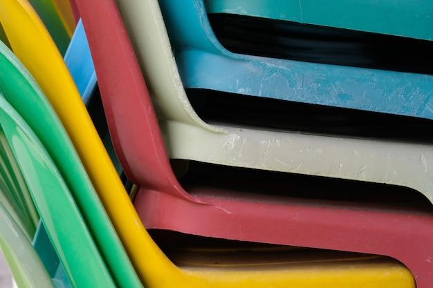 Fim, cima, de, plástico colorido