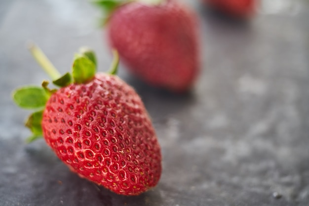 Fim, cima, fresco, natural, moranguinho, fruta